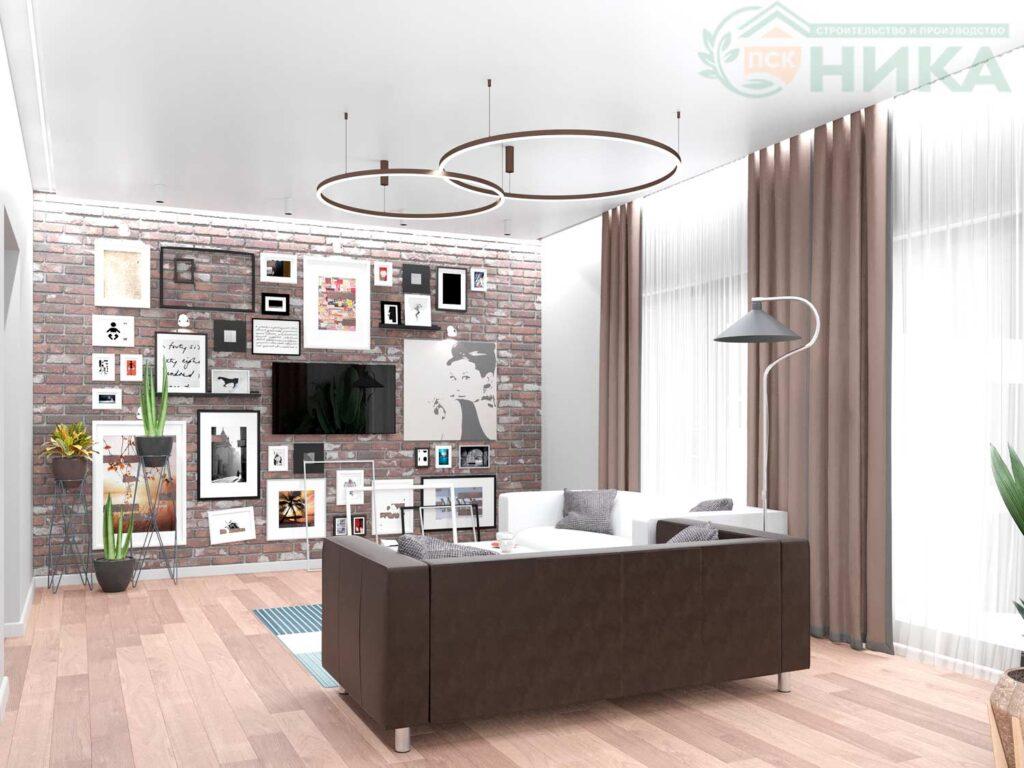 Дизайн гостиной проекта Гираторий