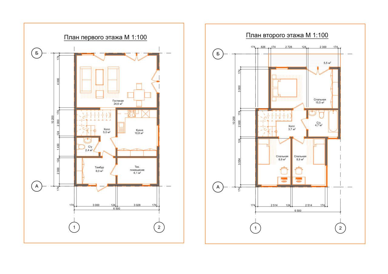 План проекта дома из СИП панелей Гираторий