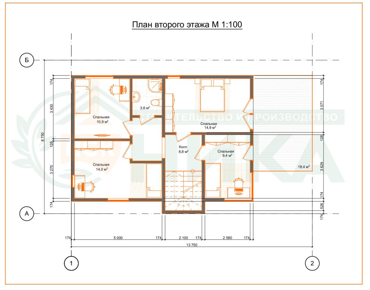 Планы по проекту Армандо. Второй этаж
