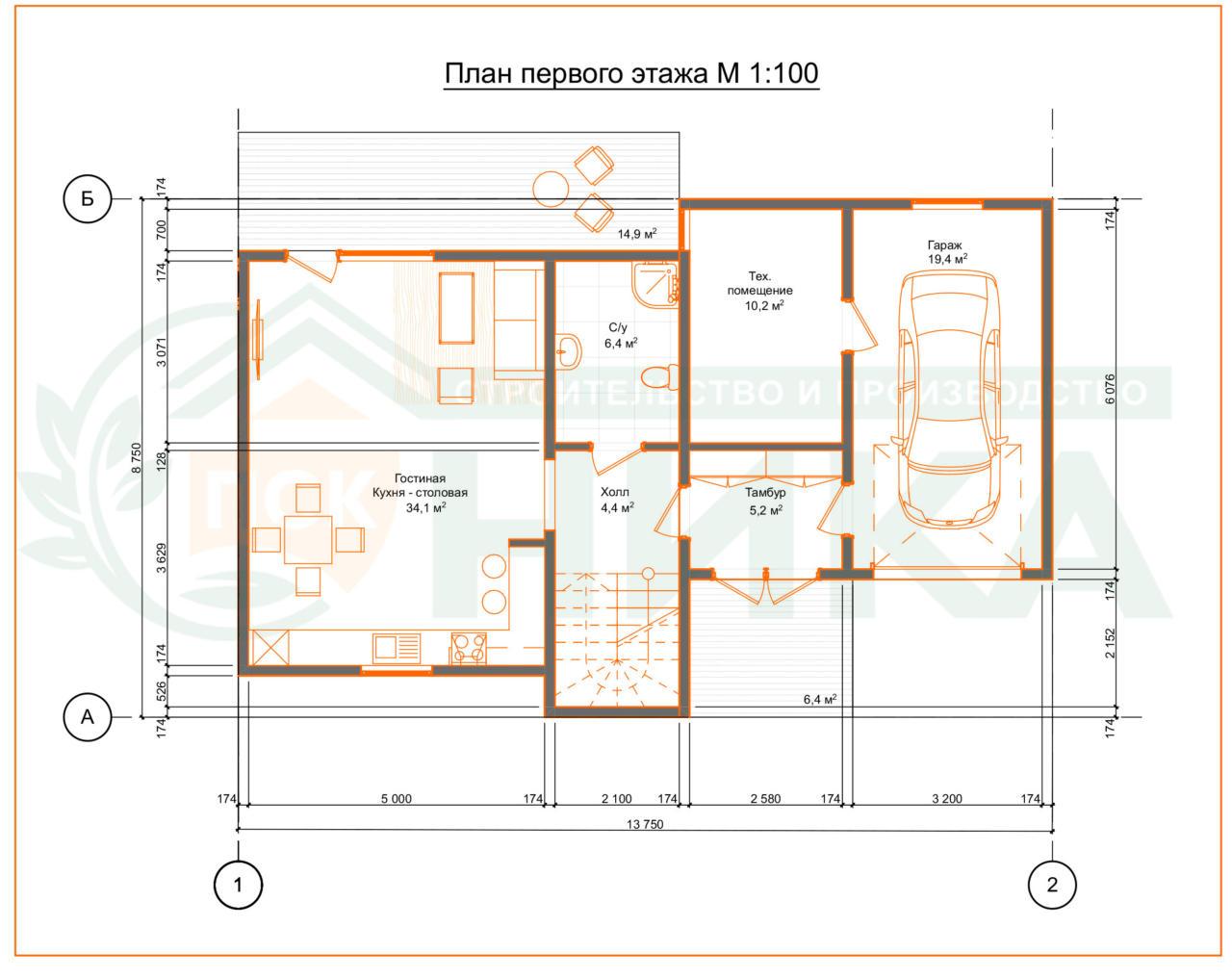 Проект Армандо. План первого этажа