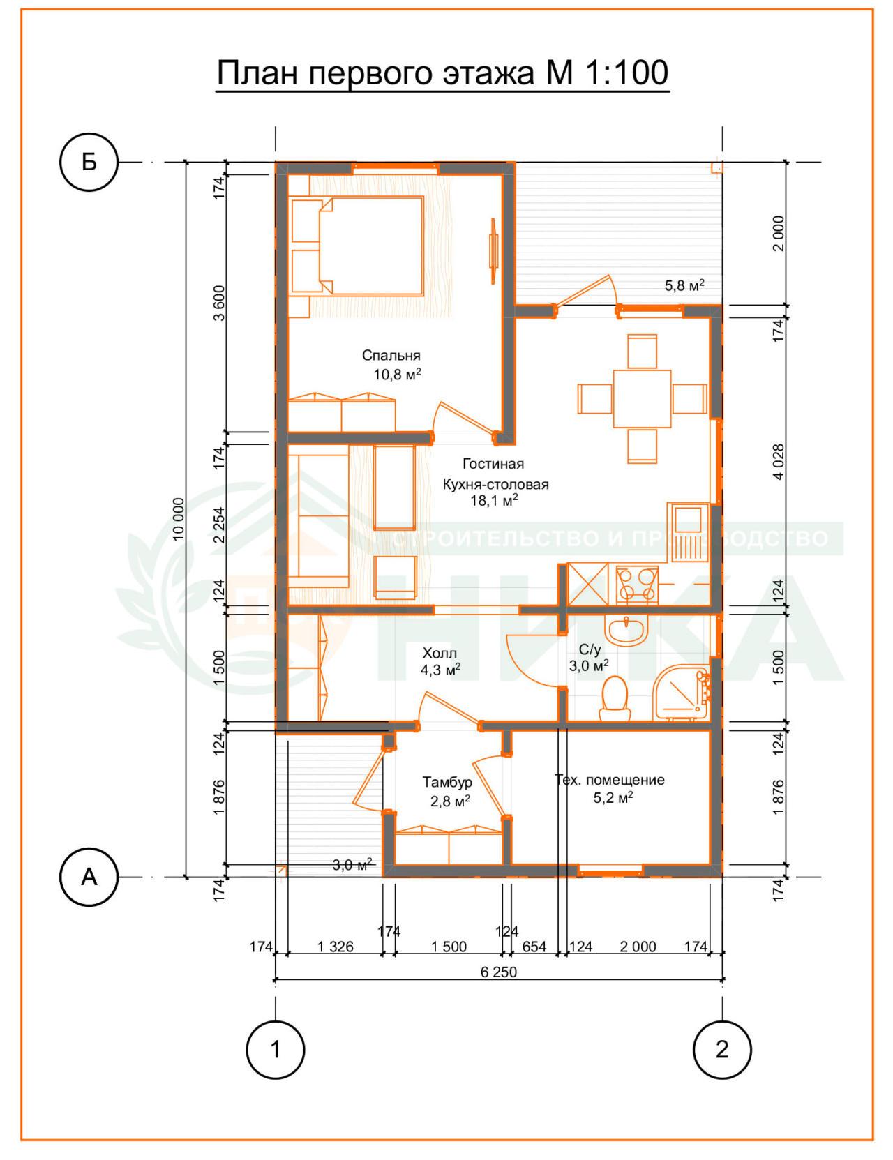 План этажа с расположением комнат. Фото