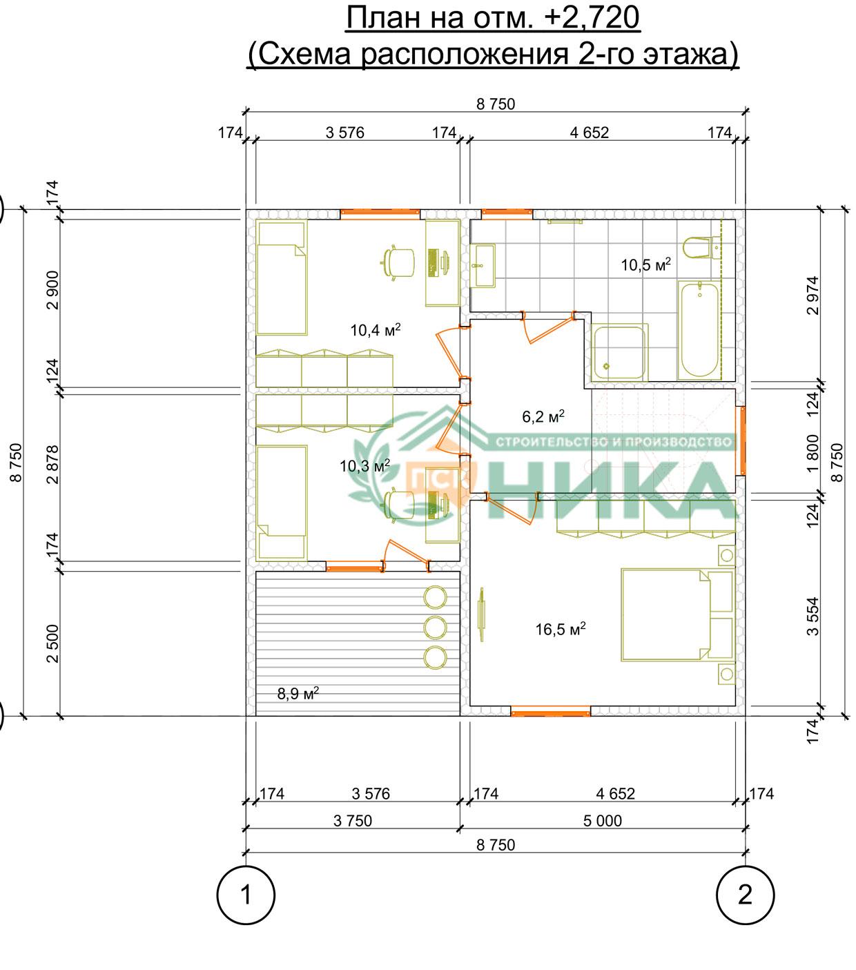 Планы этажей по проекту Фаэтон