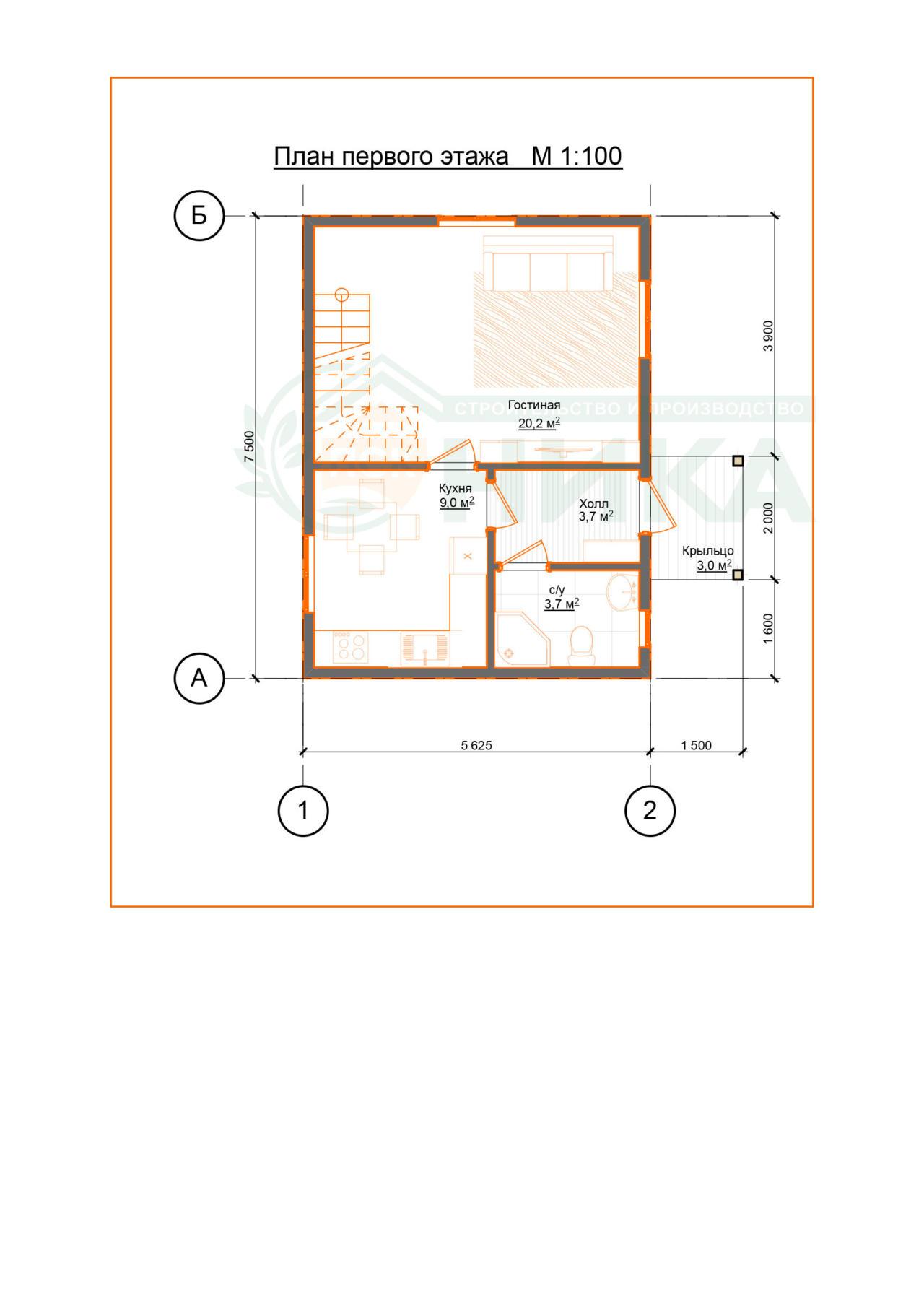 Проект дома Инфабеллис. Планировки первого этажа