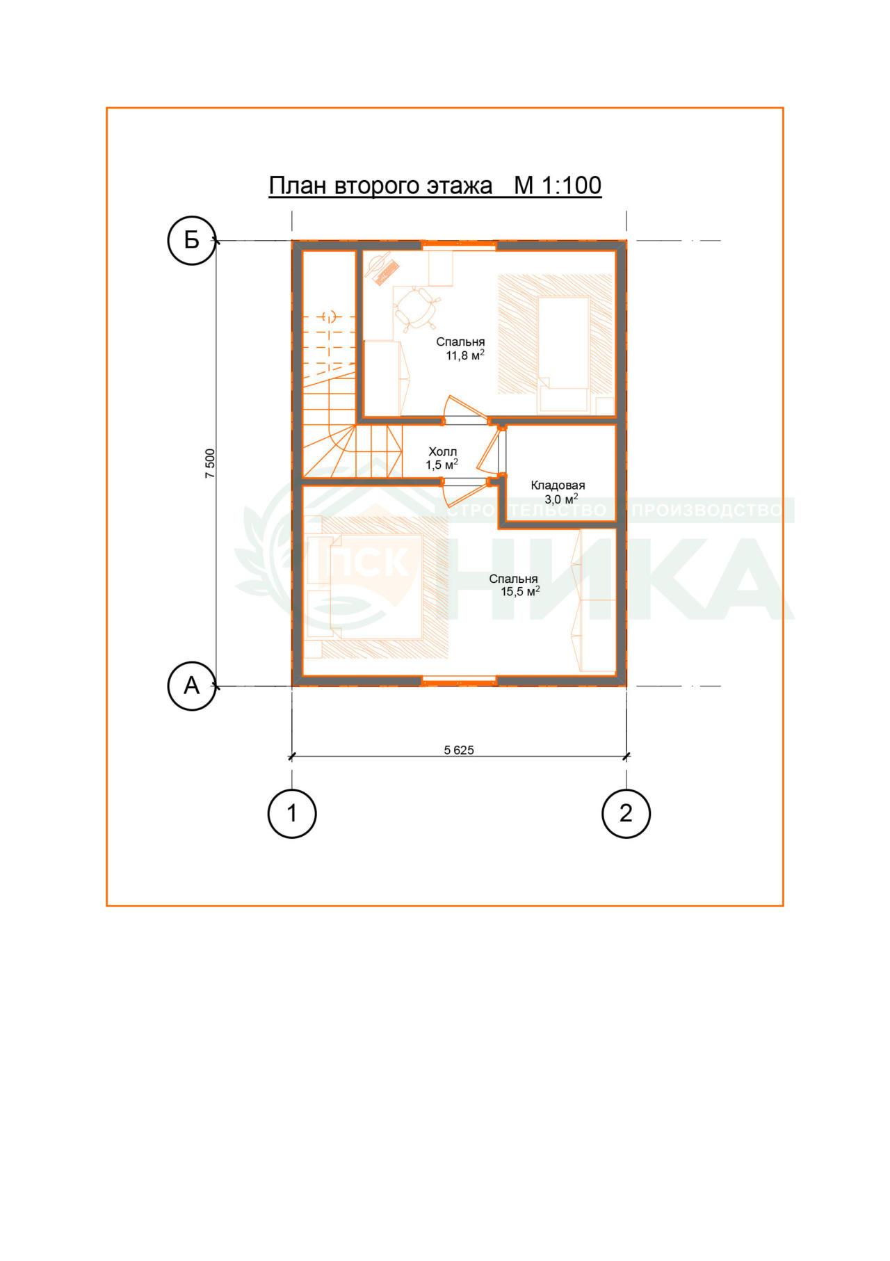 Проект дома Инфабеллис. Планировки второго этажа
