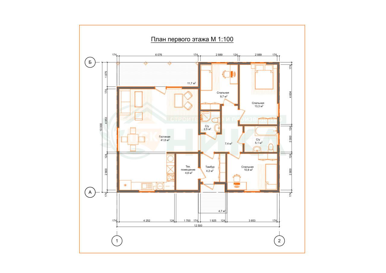 План дома по проекту Эстрико