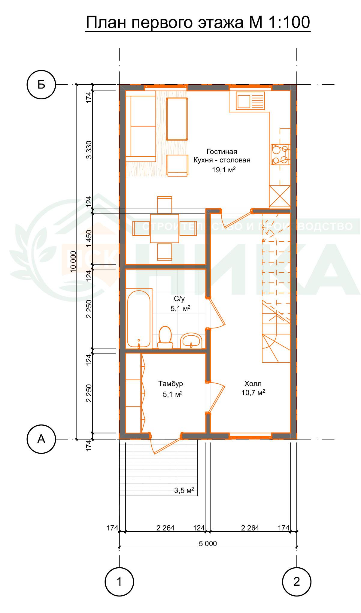 """План первого этажа по проекту """"Ритмо"""""""