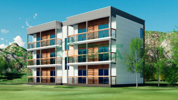 Визуализация проекта гостиницы Бриз