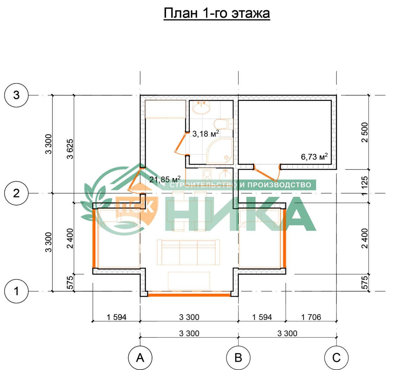 План первого этажа Панорамы Коктебеля