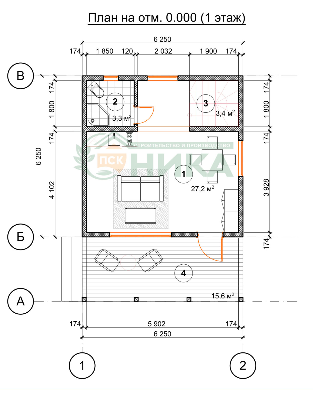 План второго этажа проект Прованс ПСК НИКА