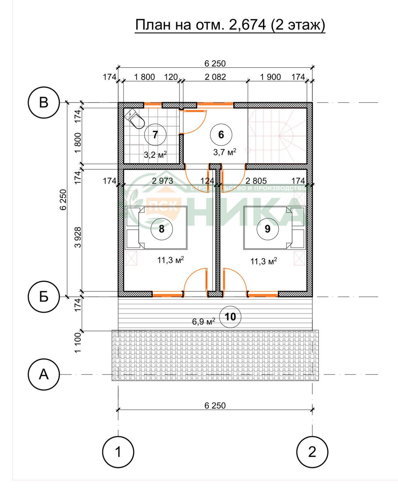План первого этажа проект Прованс ПСК НИКА